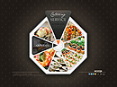 Catering service - VideoAdmin flash templates, Video web sharing  flash site design